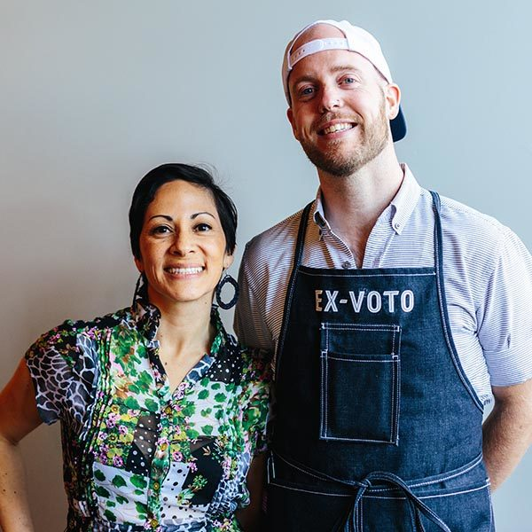 Gela Salamance and Chef Marshall Newman